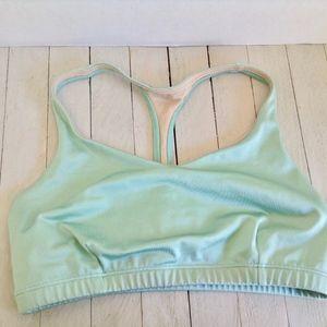 ONZIE Flow Yoga Bra SZ large -seafoam green No pad